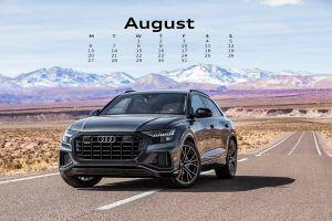 August Deskptop Calendar