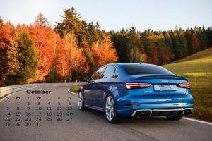 Audi Calendar_October 2018_Audi RS3 Sedan