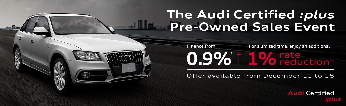 audi certified :plus pre-owned sales event audi ottawa