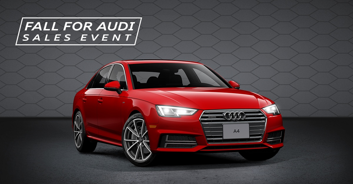 Fall for Audi Sales Event – 2018 A4