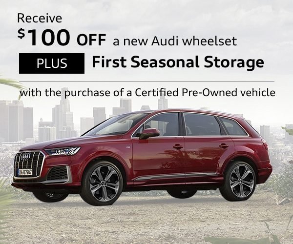 Receive $100 OFF a new Audi wheelset