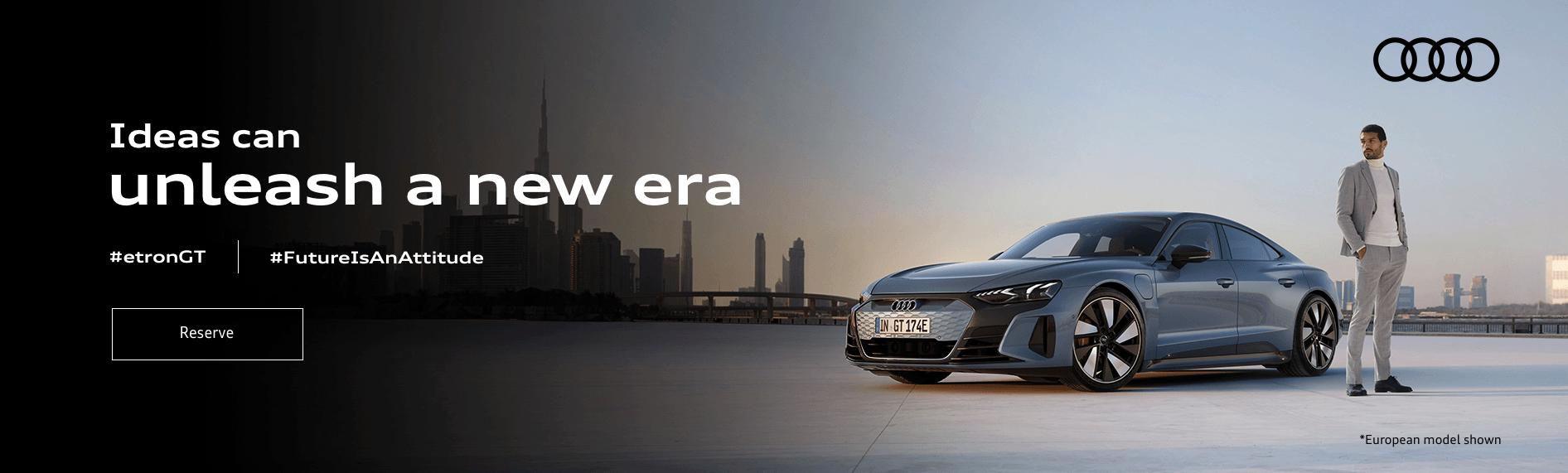 Audi etron GT Promotional Banner