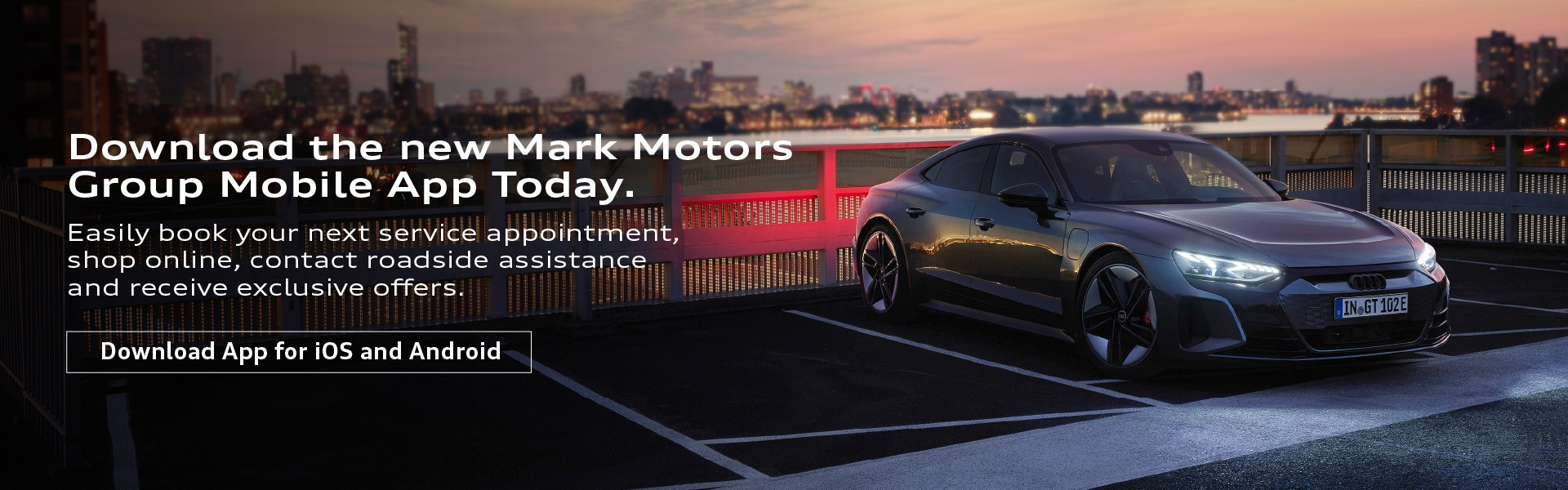 Mark Motors Group Mobile App Promotional Banner