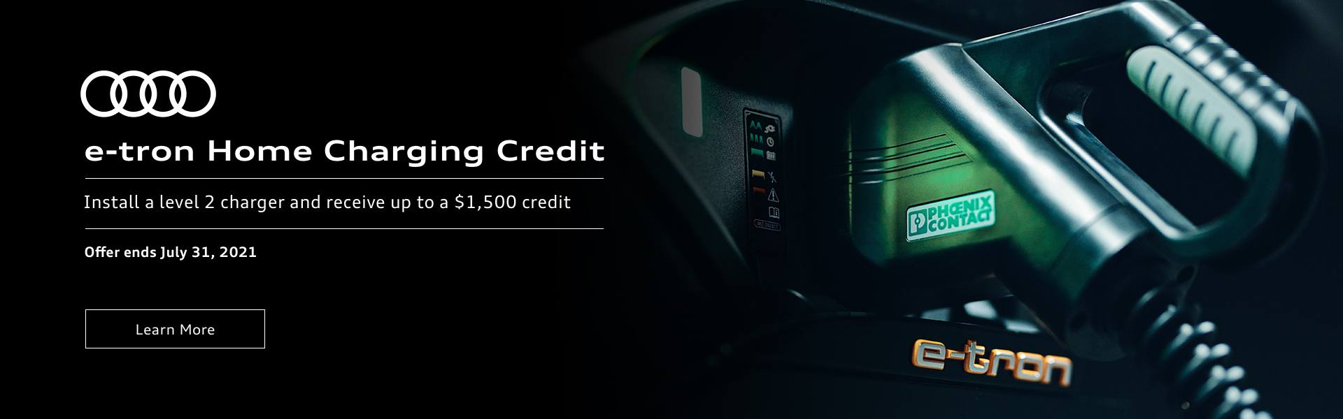 e-tron Audi Home Charging Credit Promotional Banner